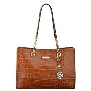 ANNE KLEIN BROWN HANDBAG